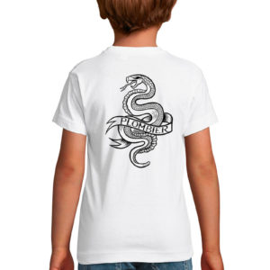 T-shirt blanc enfant Plombier Tattoo