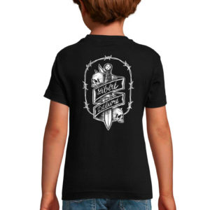T-shirt noir enfant Garçon Libéré Délivré Free Man