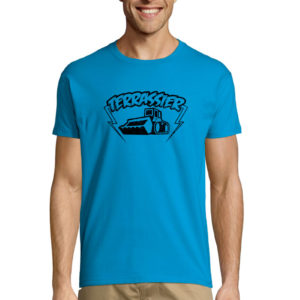 T-Shirt bleu homme Terrassier Basique Trust