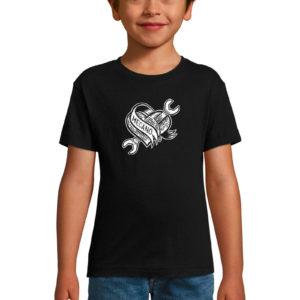 T-shirt noir enfant Mécano Tattoo