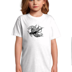 T-shirt blanc enfant Électricienne Tattoo