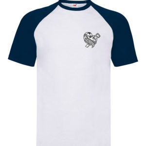 T-shirt baseball blanc/bleu enfant Menuisier Tattoo