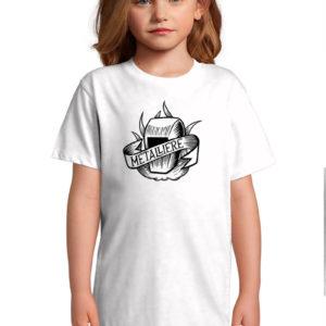T-shirt blanc enfant Métallière Tattoo