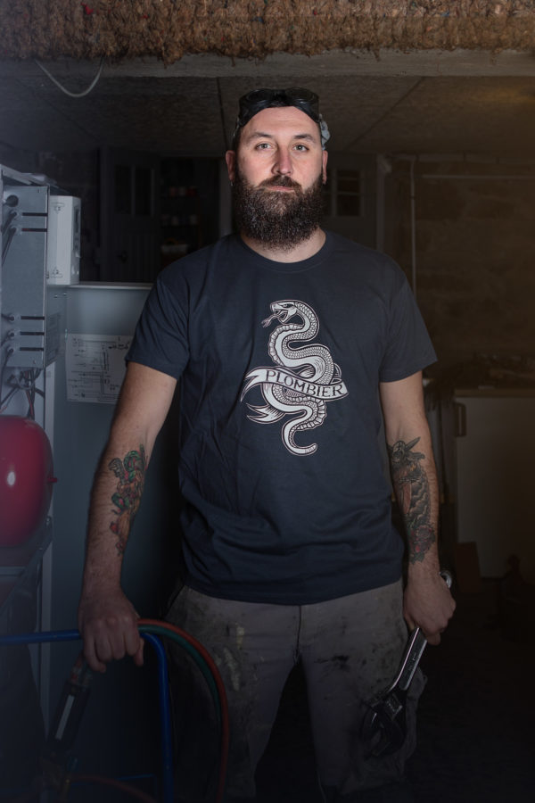 T-Shirt Plombier Tattoo Snakebite