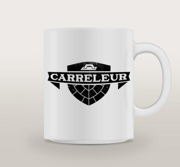 "Mug porcelaine Carreleur Basique ""Dancefloor"""