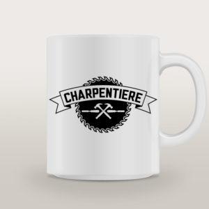 "Mug porcelaine Charpentière Basique ""Hey Joe"""