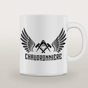 """Mug porcelaine Chaudronnière Basique """"Hell's Angels"""""""