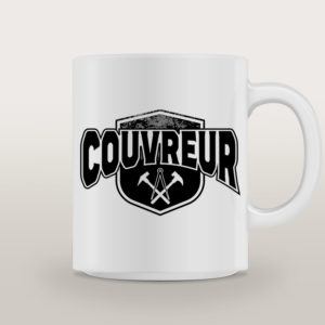 "Mug porcelaine Couvreur Basique ""Up On The Roof"""