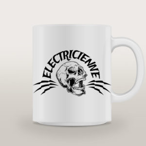 "Mug porcelaine Électricienne Rock ""High Voltage"""