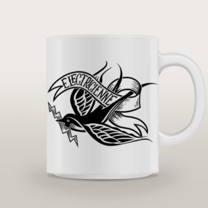 "Mug porcelaine Électricienne Tattoo ""Thunderbird"""