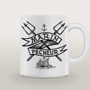 "Mug porcelaine Marin Basique ""I'm The Sea"""