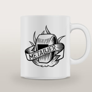 "Mug porcelaine Métallier Tattoo ""Always On My Mind"""