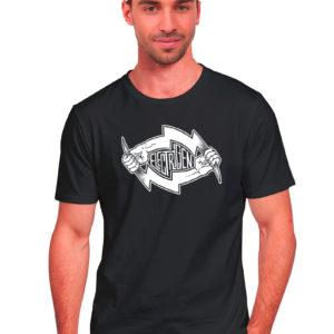 T-shirt travail noir homme Électricien Basique Flash