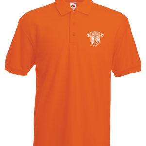 Polo orange Homme Rude Boys