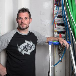 T-Shirt Électrien Basique Flash