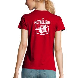 T-shirt rouge femme Métallière Basique Thor