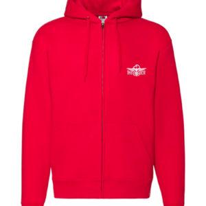 Sweat-shirt zippé rouge unisexe Infirmière Basique Stayin' Alive