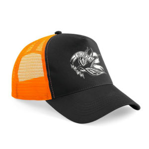 "Casquette américaine Noir/orange Électricien Tattoo ""Thunderbird"""